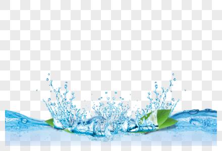 水花水波纹元素图片