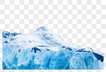 清爽冰山背景元素图片