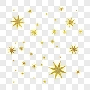 金色闪耀漂浮光芒元素图片
