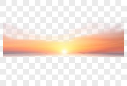 日出绽放的光芒元素图片
