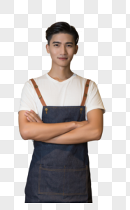男性店员服务员图片
