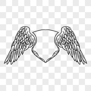 手绘翅膀边框图片