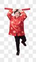 新年拿着冰糖葫芦的小朋友图片