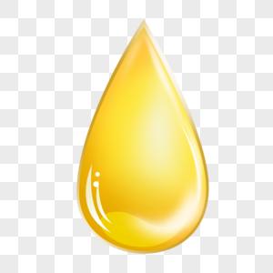 金色透明水滴液体元素图片