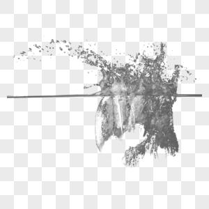 水花水滴水面喷溅的水花元素图片