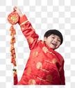 新年拿着鞭炮的小朋友图片