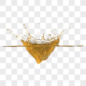 金色液体水流创意图片