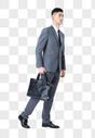 商务男性行走动作图片