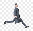 商务男性跳跃夸张动作图片