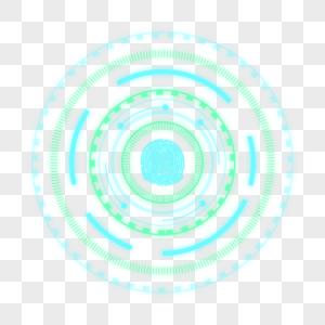 蓝色指纹光效图片