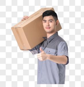 快递员送货图片