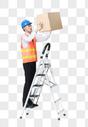 仓储物流男性整理货物图片