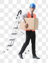 仓储物流男性搬运货物图片