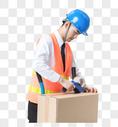 仓储物流男性封箱图片