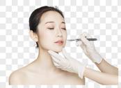 美女脸部手术刀整容图片