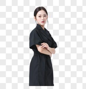 美艳美女黑色服装图片