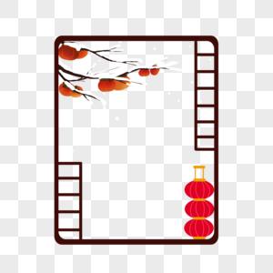 传统梅花边框装饰图片