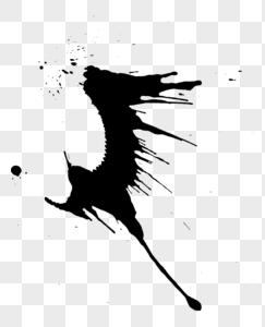 燕子墨迹图片