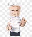 儿童与机器人图片