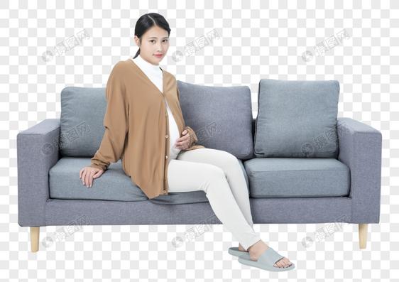 孕妇居家休闲图片