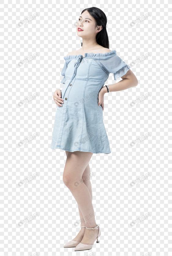 时尚孕妇购物图片
