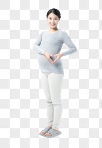 孕妇爱心图片