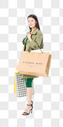 青春女性购物图片