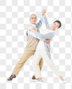 恩爱的老年夫妻跳舞图片