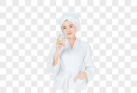 穿浴袍的美女图片