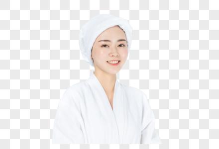 穿浴袍美女图片