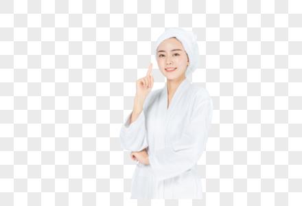 浴袍美女图片