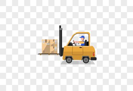 开卡车的物流工人图片