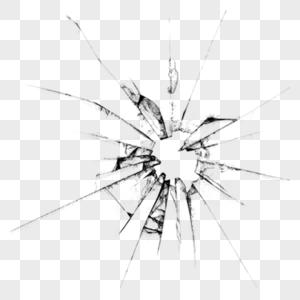 玻璃弹孔效果图片