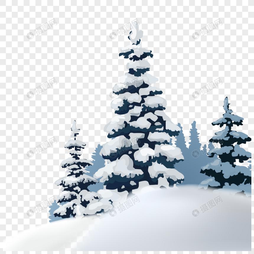 冬天的圣诞树图片