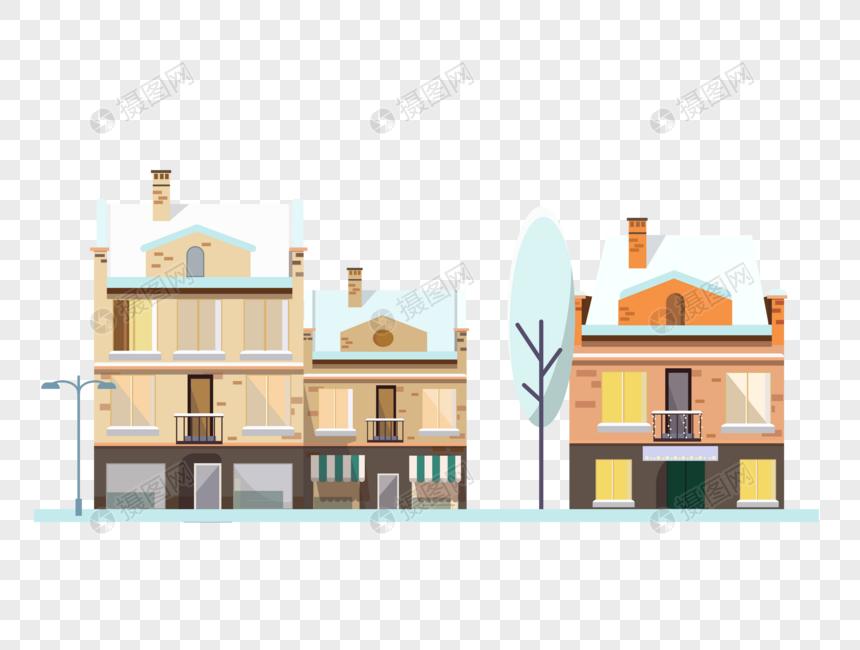 唯美可爱冬天里的房子图片