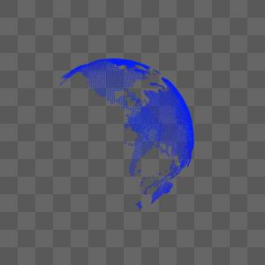 科技线条地球图片