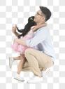拥抱父亲的孩子图片