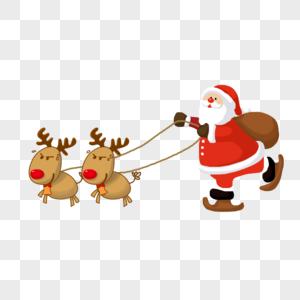 驾着雪橇的圣诞老人图片