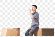 物流男性工作形象图片