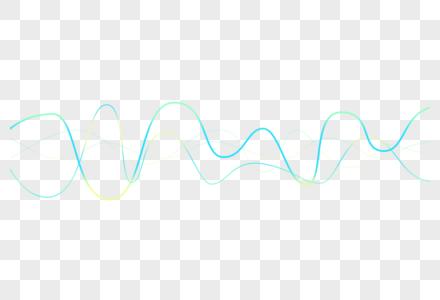 矢量像素声波曲线PNG图片图片