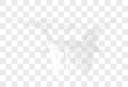 水珠喷溅图片
