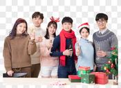 圣诞聚会人像图片