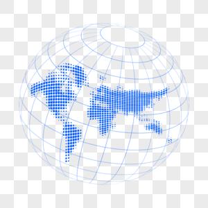 科技地球世界地图展示图片