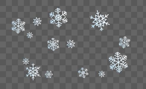 白色雪花图片