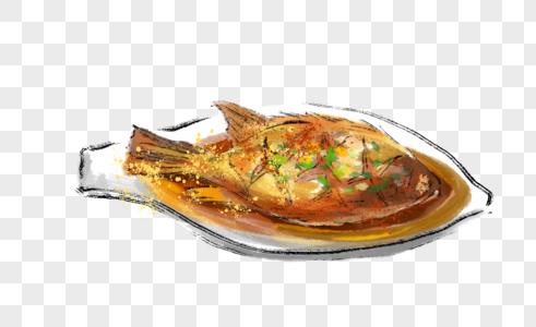年夜饭红烧鱼图片