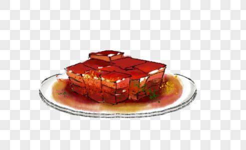 年夜饭红烧肉图片