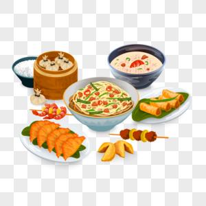 手绘腊八节美食食物图片
