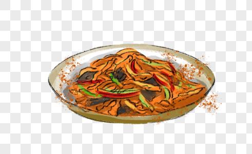 年夜饭鱼香肉丝图片