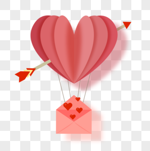 情人节热气球图片