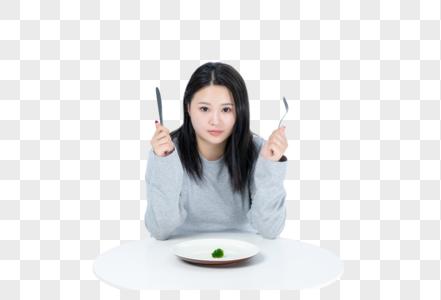 胖女生节食图片